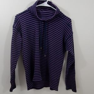 Chaps petite striped turtleneck sweater